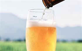 南阿蘇ビールとグラス
