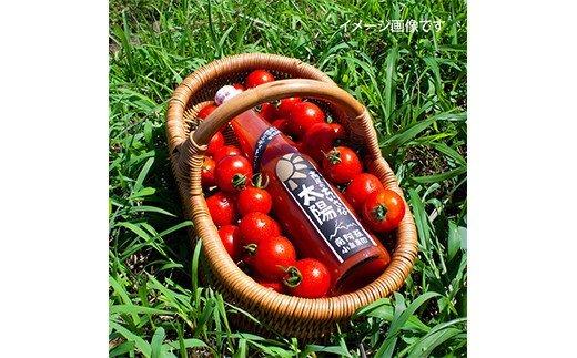 トマトジュースとバケット